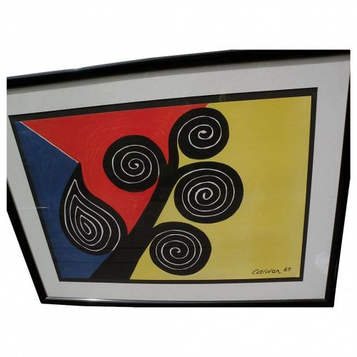 "ALEXANDER CALDER (1898-1976) offset lithograph print ""Summer""  signed in the plate"