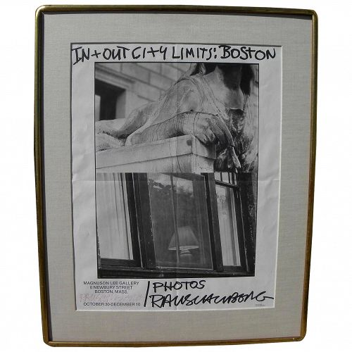 ROBERT RAUSCHENBERG (1925-2008) hand signed 1981 poster for photo exhibition