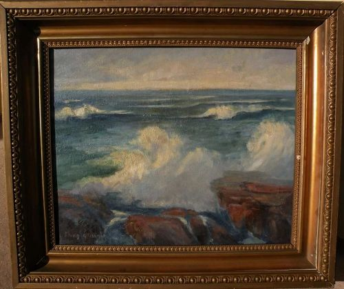 ELSIE LOUISE BROWN GROSSMAN (1888-1949) California plein air coastal landscape painting