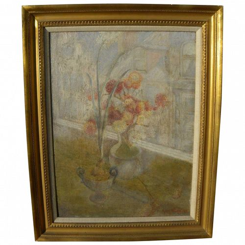 Vintage American still life painting signed Guy Wiggins
