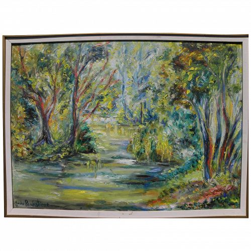 JADVYGA DOBKEVICIUTE PAUKSTIENE (1913-2005) important Lithuanian art impressionist painting