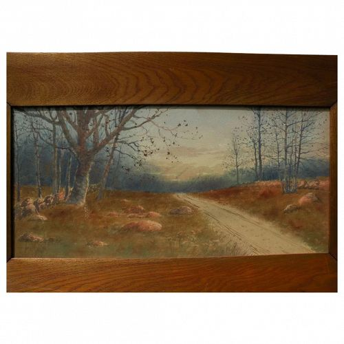 NEIL REID MITCHILL (1858-1934) fine watercolor painting of a country track by American artist�