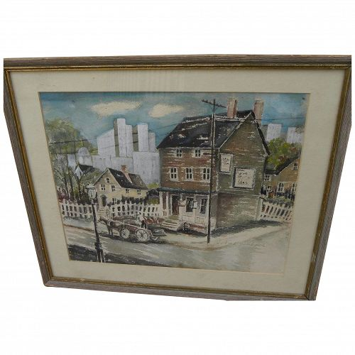 JOHN GRABACH (1886-1981) fine watercolor painting by well listed American master artist