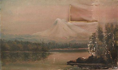 Northwest American art restorers special volcano landscape painting