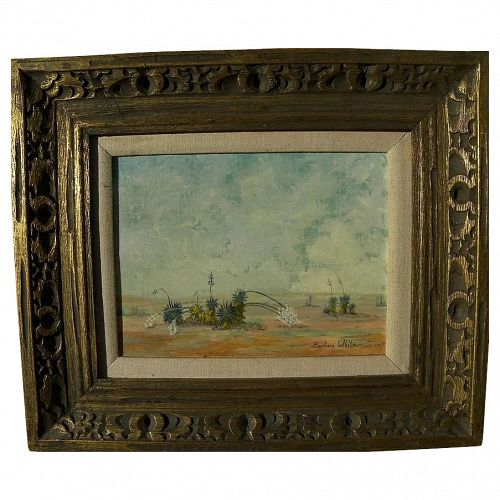New Mexico impressionist landscape painting by Barbara White, first president of Grant County Art Guild