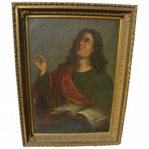 Old Master Italian circa 18th century painting of a man