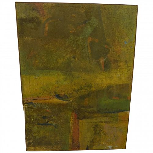 ROY TURNER DURRANT (1925-1998) Mid Century 1965 signed abstract painting as-is condition by noted English modernist