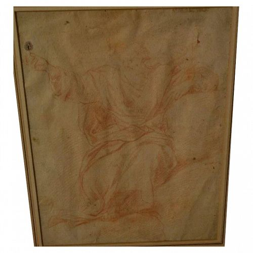 Old Master circa 1700 Italian drawing after Guercino
