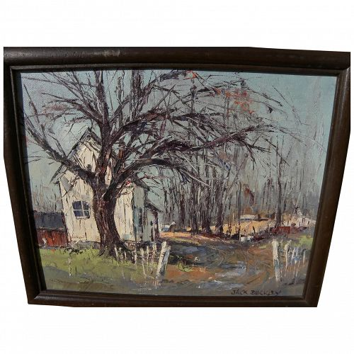 JACK BUCKLEY (1915-1995) impressionist painting of country shed by noted Disney artist