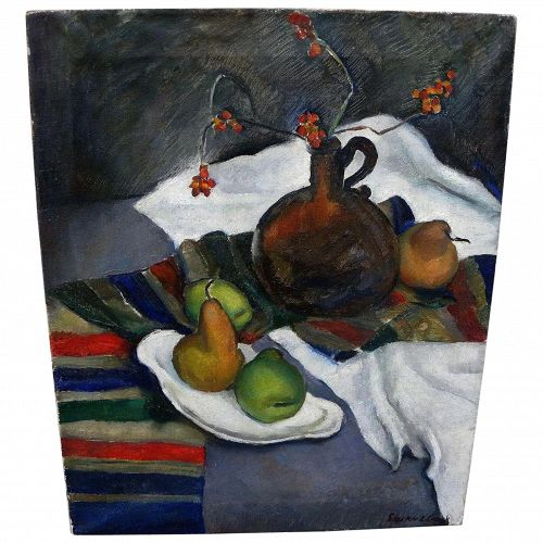 SUSAN CROOK INGERSOLL (1908-) American circa 1940 modernist still life painting