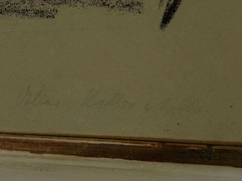 OSKAR KOKOSCHKA (1886-1980) pencil signed 1918 print by the Austrian expressionist master artist