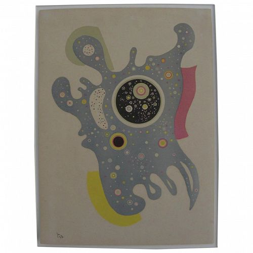 """WASSILY KANDINSKY (1866-1944) plate signed 1938 Mourlot lithograph """"Stars"""" for Verve"""