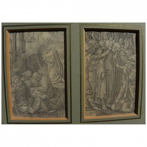 LUCAS VAN LEYDEN (1494-1533) **pair** old master engravings from the 1521 Passion of Christ series