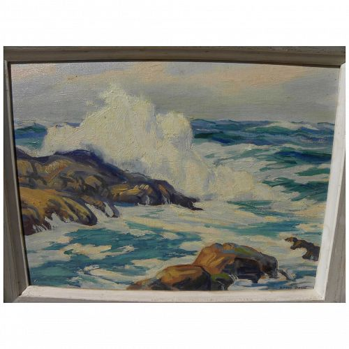 ALFRED JAMES WANDS (1904-1998) American impressionist art seascape painting by noted Colorado artist
