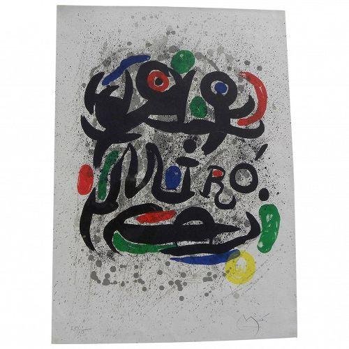 "JOAN MIRO (1893-1983) Spanish modern art original pencil signed numbered 1969 lithograph print ""Pour Galerie Gerard Cramer"""