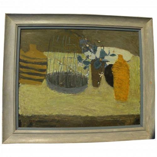 Japanese impressionist contemporary signed still life painting