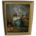 ELIZABETH CAMPBELL contemporary signed traditional style still life painting