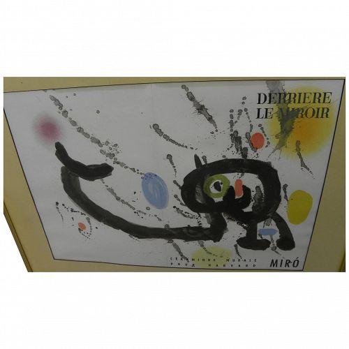 """JOAN MIRO (1893-1983) original double-page color lithograph """"Ceramique Murale Pour Harvard"""" 1961"""