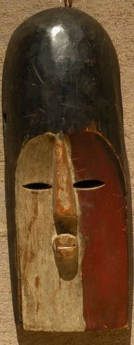 African art carved wood ceremonial mask