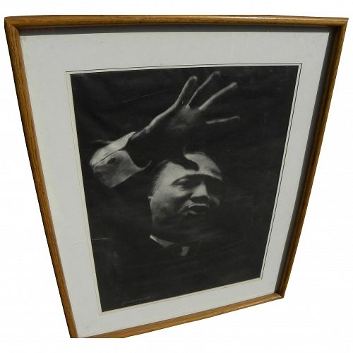 Charcoal portrait Martin Luther King by noted artist Jessica Rockwell