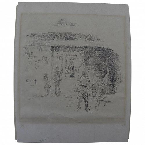 """JAMES ABBOTT McNEILL WHISTLER (1834-1903) lithograph print """"The Tyresmith"""" 1890 by the famous artist"""