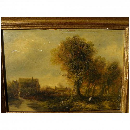 Nineteenth century landscape painting after Old Masters