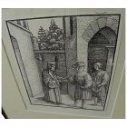 German Renaissance Old Master woodcut print likely by HANS BURGKMAIR (1473-1531) for famous book Theuerdank