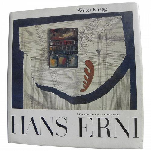 HANS ERNI (1909-2015) major Swiss artist hard cover 1979 book including two original pencil drawings