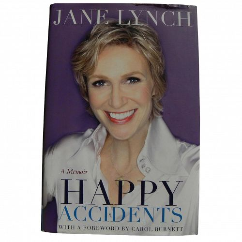 "Jane Lynch ""Happy Accidents"" 2011 autobiography book hand signed by the actress"