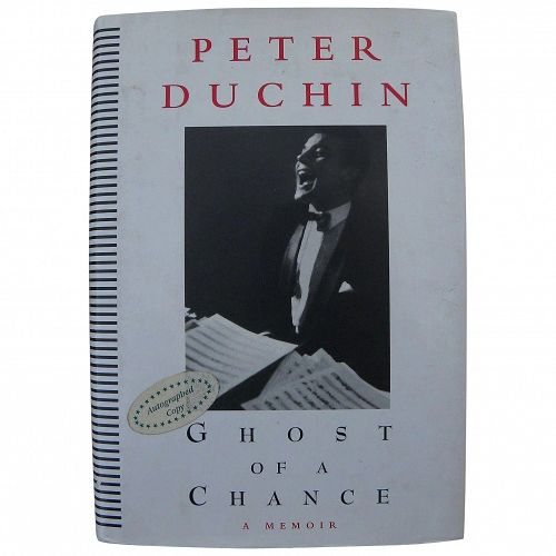 Peter Duchin society bandleader signed autographed copy memoir book