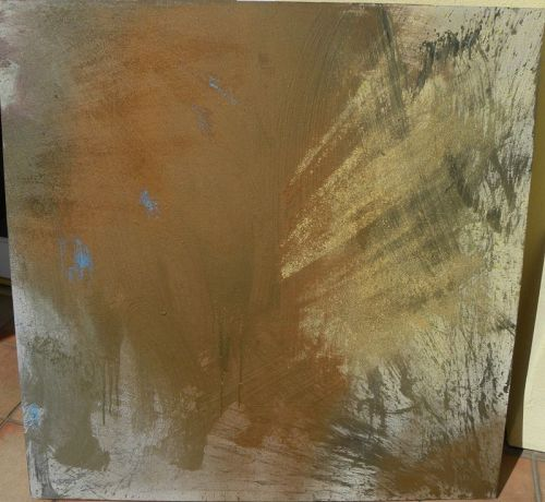 GEORGE ERNSTSON (1945-2011) abstract modern painting large California