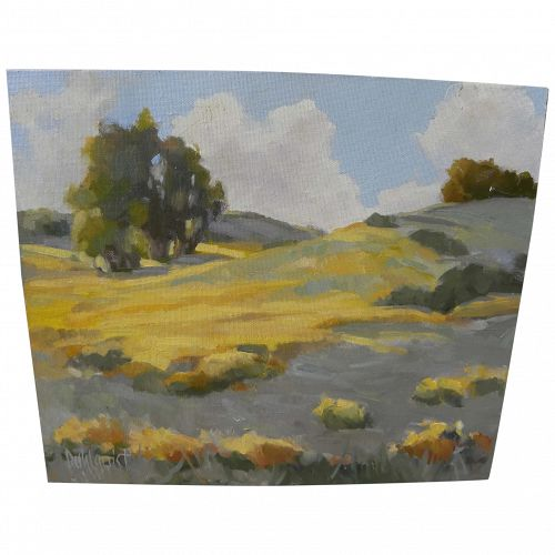 California contemporary plein air landscape painting signed Dahlquist