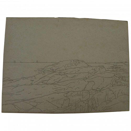 American drawings Naragansett Bay Rhode Island style Wm. S. Haseltine
