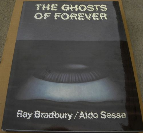 "RAY BRADBURY signed book ""The Ghosts of Forever"" sci-fi"