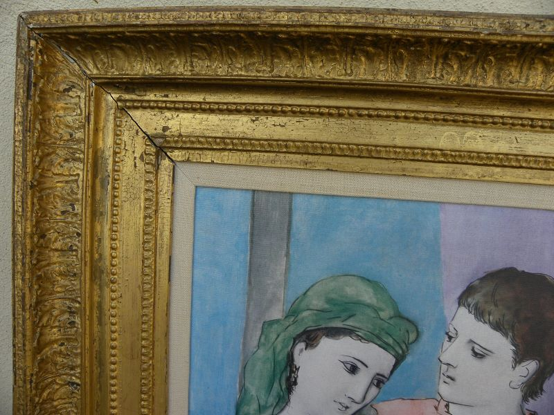 Antique gold picture frame 19th century possibly French