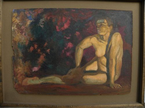 BEN CARRE (1883-1978) California Hollywood artist painting nude