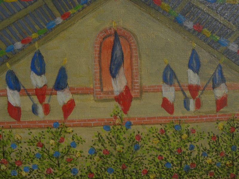 ANDRE SALAUN (1921-) charming French naif primitive painting