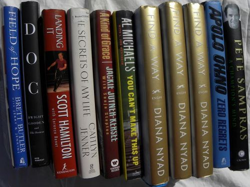 Books on sports all signed by author (12 piece lot)