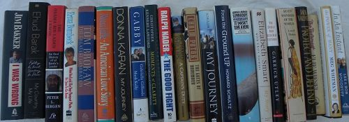 Signed autographed books general interest 28 pieces one lot