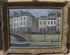 ALOIS LECOQUE (1891-1981) Paris Seine River painting French early work