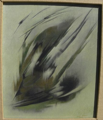 LUIS GARCIA GUERRERO (1921-1996) fine Mexican art abstract painting