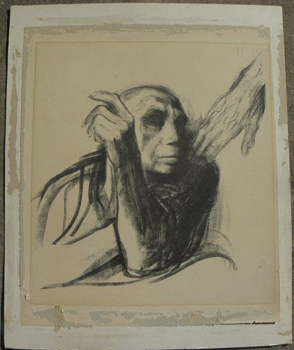 "KATHE KOLLWITZ (1867-1945) lithograph German art ""Death Cycle"""
