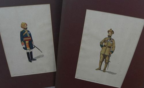 JOHN SEYMOUR LUCAS (1849-1923) two fine drawings Punjab India soldiers