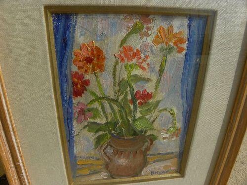 LUIGI BRUNELLO (1883-1976) impressionist still life painting Italian
