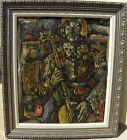 EDUARDO PISANO (1912-1986) Spanish modern painting clown