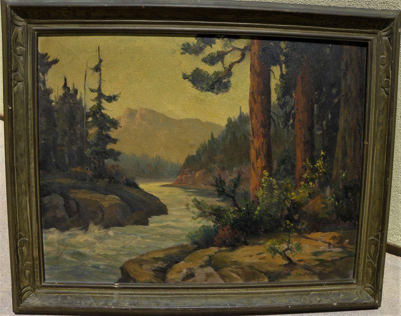 JOHN ANTHONY CONNER (1892-1971) California painting mountain stream