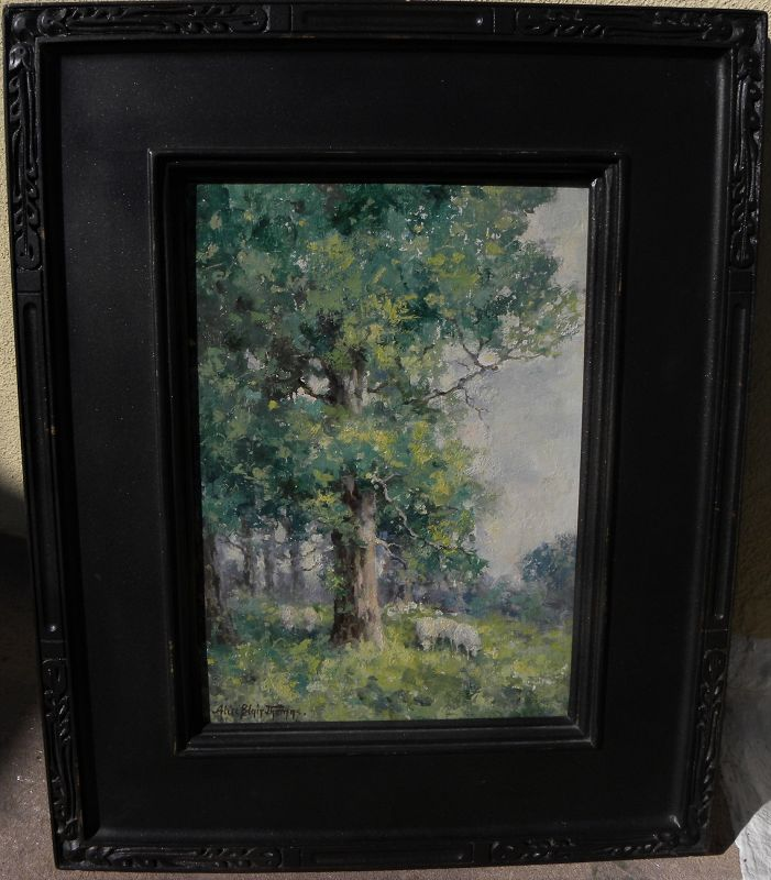 ALICE BLAIR THOMAS (1857-1945) California impressionist painting art