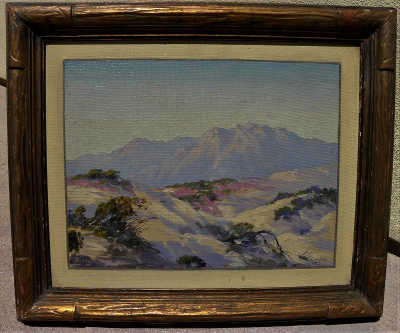 JOSEPH FREY (1892-1977) California painting desert mountains plein air