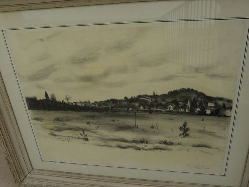 CHARLES CULVER (1908-1967) Michigan art Bellaire early drawing
