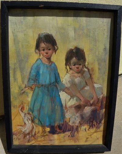 VLADAN STIHA (1908-1992) Southwest art painting listed artist